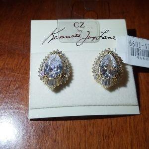 Kenneth Jay Lane CZ earrings post